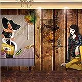 Fushoulu Custom 3D Plank Retro Wand Kleidung Shop Mall Tooling Hintergrund Charakter Shopping Mall Mural Wallpaper