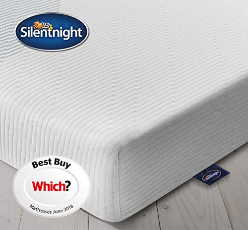 Silentnight 3 Zone Memory Foam Rolled Mattres | Made in the UK | Medium | Double