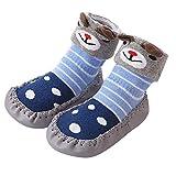 BaZhaHei Baby Boy Girl Socks Children Cotton Floor Socks Kids Anti-Slip Baby Step Socks Newborn Socks Solid Color Thick Cloth Floor Socks