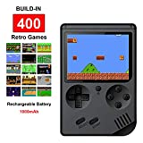 Handheld Retro FC Games Consoles with 400 NES Classic Games, Fiotasy Portable Gameboy 3 Inch Color Screen 1000mAh Rechargeable Battery TV Output Birthday Christmas Gifts for Kids Boys Girls Men Women