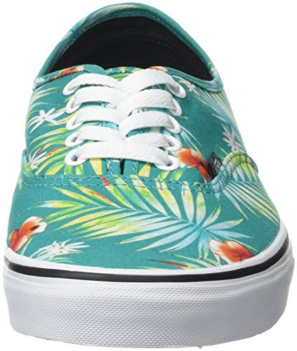 Vans UA Authentic, Sneakers Basses Homme Turquoise (Decay Palms Baltic/true White)