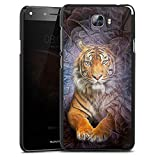 DeinDesign Huawei Y6 II Compact Hülle Case Handyhülle Tiger Abstrakt Muster