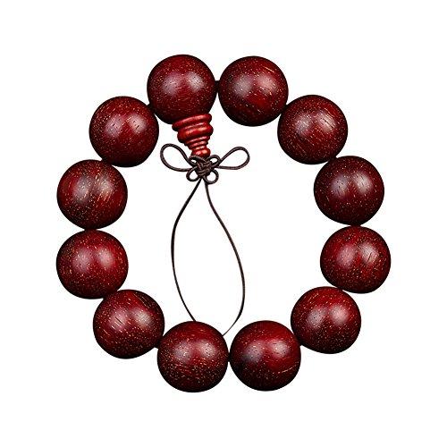 Buddha Perlen Armbänder Indische Materialien Handgefertigte Voll Venus Lobular Rosenholz Armbänder Unisex,2.0Cm*12