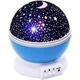 AZOD LED Rotating Night Light Projector Starry Sky Star Master Children Kids Baby Sleep Romantic LED USB Projector Lamp
