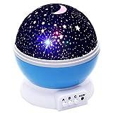AZOD LED Rotating Night Light Projector Starry Sky Star Master Children Kids Ba