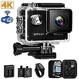 Action Kamera ,OTHA Unterwasserkamera 4K Ultra HD Sport Wifi Kamera Nachtversion Motorrad Camera mit 2 Verbesserten Batterien und Kostenlose Zubehör Kits
