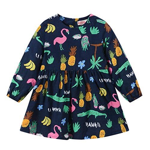 LEXUPE Kleidung Kleinkind Kleinkind Kleinkind Kleinkind MäDchen Langarm Tierdruck ReißVerschluss Prinzessin Kleider Kleidung