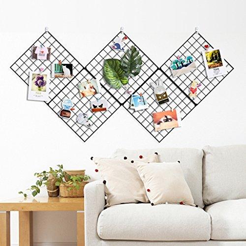 Sharon DIY Grid Foto Wand, 5 Stacheldraht Foto Wall/Wall Art Ausstellung und Finishing, (30 * 30 cm, schwarz)