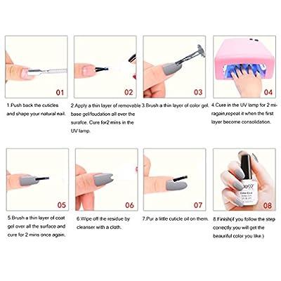 Elite99 Grey Series UV LED Gel Soak Off Nail Polish Manicure (001)