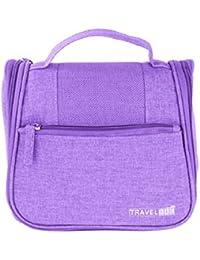 Italish Multipurpose Waterproof Travel Makeup Cosmetic Bag Organizer Case Traveling Handle Bag For Women-Purple