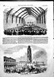 Antique Print of Boston Election Meeting Corn Exchange Declaration Return1856 An antique half page print from the Illustrated London News. Date if known in the title. Size of each print is approximately 10.5 x 16 inches (270 x 400 mm). All of these a...