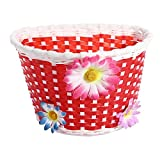 Inovey Bicycle Bike Front Basket Decoration For Children -Red