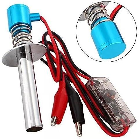 Goliton® mejorada 6-12V resplandor de arranque de encendido electrónico encendedor enchufe para Nitro Desarrollado Modelo RC Coche Barco - Azul