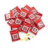NEU 2018 25 Stück FROHE Weihnachten give-away schwarz rot weiß Mini Geschenke Gummibärchen für Kunden Mitarbeiter kleines Weihnachtsgeschenk Mitgebsel Souvenir