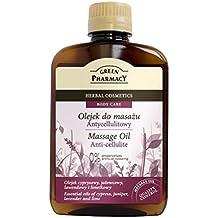The Green Pharmacy anti-cellulite de masaje de aceite–Ayuda a la reducción de Celulitis el Fomento De linfático Systems–Aceites esenciales de enebro, lavanda, ciprés, antical y almendra–200ml
