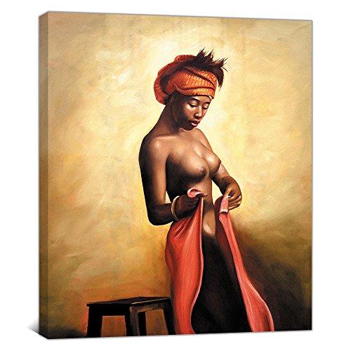 Sexy Naked African Americans Mädchen Druck Wandbild Ölgemälde auf Leinwand Art Nude Prints Bild für Home Dekoration oder Hotel gerahmt -