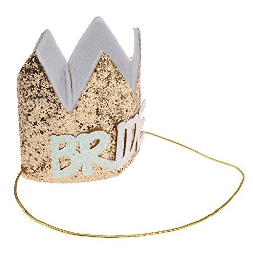MagiDeal Geburtstag Glitter Kronen Hüte für Geburtstag Festival Party - Gold