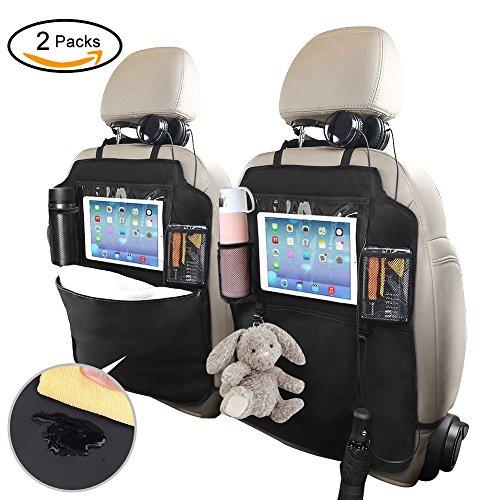 Auto Rücksitz Organizer, Kick Matten Rücksitz Schutz Abdeckungen für Kinder 2 Stück, Multi Pockets für Spielzeug/Flaschen/10