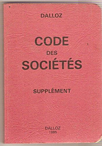 Code des sociétés (Petits codes Dalloz)