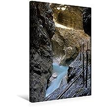 Calvendo Premium Textil-Leinwand 30 cm x 45 cm hoch, Ein Motiv aus Dem Kalender Höllentalklamm | Wandbild, Bild auf Keilrahmen, Fertigbild auf Echter Leinwand, Leinwanddruck Natur Natur