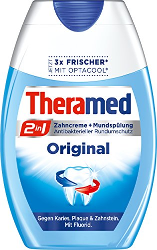 Theramed Zahncreme 2in1 Original, 4er Pack (4 x 75 ml)
