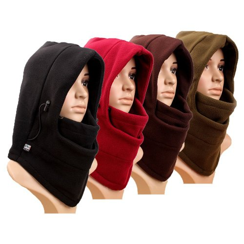 casadeiy doppelte Schichten Thermal Fleece Sturmhaube dicker Kapuze Full Face Cover Maske Winter Wind Beweis