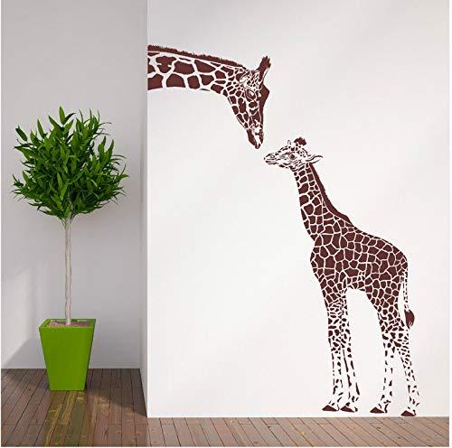 Adesivo da parete 3d giraffa e bambino giraffa wall sticker home decor soggiorno art wall tattoo vinile rimovibile decalcomanie animal theme wallpapers 56x76cm