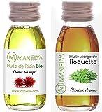 Huile De Ricin Bio Certifié Extra Vierge + Huile de Roquette 100% naturelle - Les...