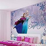 Disney Eiskönigin Elsa Anna - Forwall - Fototapete - Tapete - Fotomural - Mural Wandbild - (1634WM) - XXL - 312cm x 219cm - VLIES (EasyInstall) - 3 Pieces