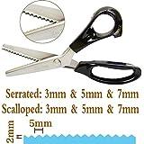 Hui Tong ciseaux à cranter Ciseaux couture 9 pouces en acier inoxydable ciseaux crantes pour tissu,5mm serrated