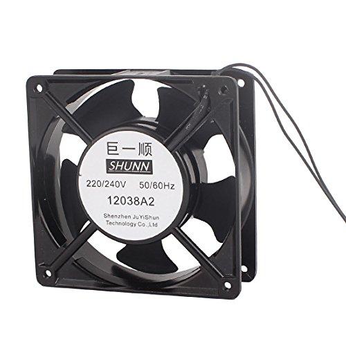 sourcingmap AC 220V/240V 120mmx120mmx38mm 5 paletas de ventilador de radiador de refrigeración...