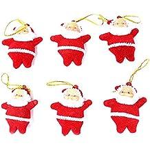 c-pioneer 6pcs Babbo Natale ornamenti festival partito albero Natale appeso decorazione