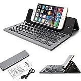 THL 2015a smartphone Wireless aluminio minitast muscular/plegable Bluetooth QWERTY Keyboard–F18 gris gris