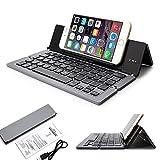 Doogee Titans 2 DG700 Smartphone Wireless Aluminium Minitastatur / Faltbare Bluetooth QWERTY Keyboard - F18 Grau