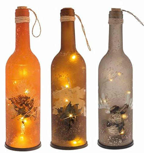 Weinflasche Herbstdeko