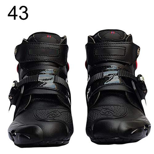 waysad Botas De Motocicleta Zapatos para Montar En Moto Hombre Botas Cortas...