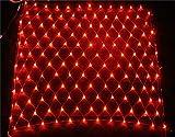 He-shop Fairy Net Light LED wasserdicht mit Fernbedienung Weihnachtsgarten Rasen Indoor Outdoor Dekorationen rot 8 * 10m Licht Post