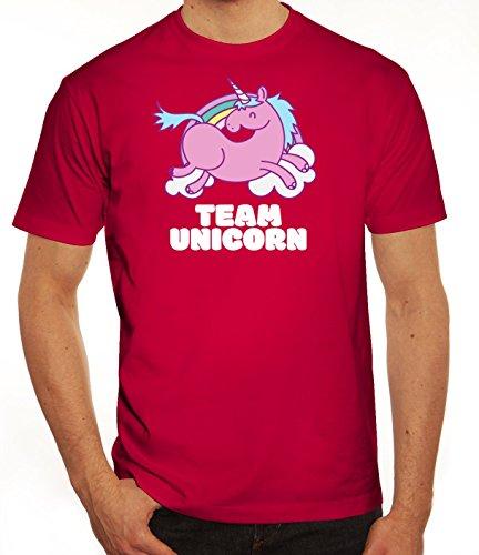 Einhorn Herren T-Shirt mit Team Unicorn Motiv von ShirtStreet Sorbet