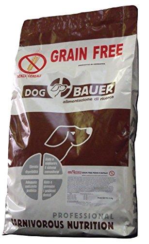 DOG BAUER alimentazione di ricerca Crocchette al Pesce e Bufalo per Cani Senza Cereali