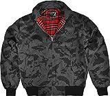 GearUp Original Harrington Jacke English Style in 12 verschiedenen Designs wählbar Farbe Rot/Weiß Größe XL