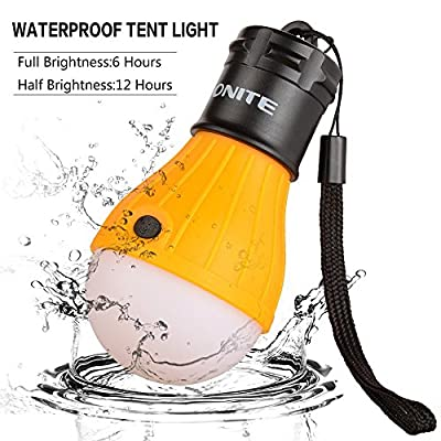Onite tragbar USB LED Light camping Lampe zeltlampe Beleuchtung Licht Taschenlampe
