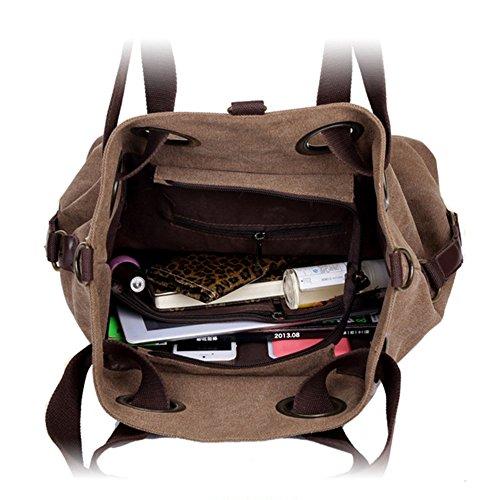 Damen der Frauen Casual Vintage Canvas Handtasche Täglichen Handtasche mit Doppelgriff Superior-Handtasche Schulter Handtasche Dunkelviolett