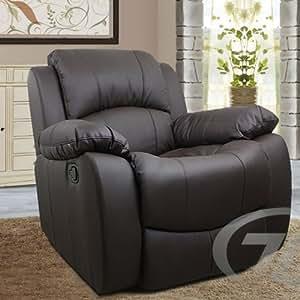 relaxsessel fernsehsessel braun aus kunstleder k che haushalt. Black Bedroom Furniture Sets. Home Design Ideas