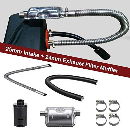 8 STÜCKE Universal Car Consumables Zubehör Air Diesel Heizung 24mm Auspuff Schalldämpfer + 25mm Filter Air Diesel Heizung Zubehör