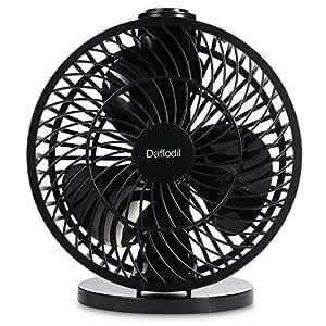 Daffodil UFN120 - Ventilatore da Scrivania USB 18cm - Ventilatore da Tavolo o da Parete - Velocità e Angolo di Ventilazione Regolabili (Bianco)
