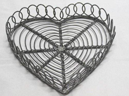 """Herzteller aus Metall """"Wire"""" 16cm"""