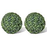 vidaXL 2 pièce de boule artificiel plante intérieur extérieur 35 cm