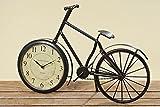 Tischuhr Fahrrad Metall ca 50 cm Nostalgie Männergeschenk Unikat Büro Sportler