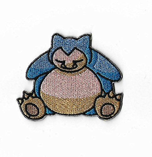 Snorlax Pokemon Patch Embroidered Iron on Badge Aufnäher Kostüm Fancy Kleid Pokémon Cosplay