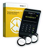 REINER SCT timeCard Starterkit | Zeiterfassung  | Für RFID Chip / Transponder und Chipkarten | Inkl. Software & Wandhalterung